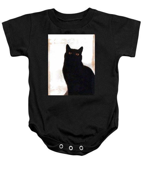 Panther The British Shorthair Cat Baby Onesie