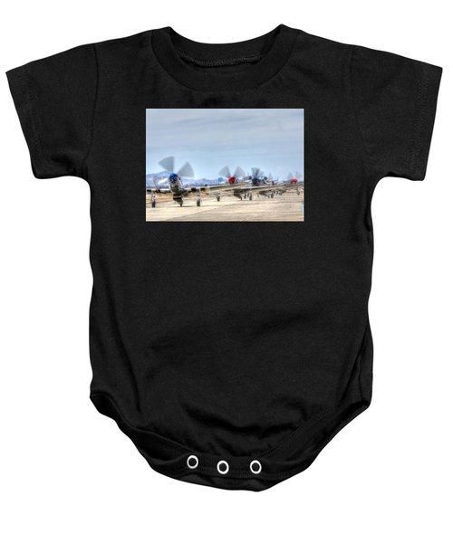 Parade Of Mustangs Baby Onesie