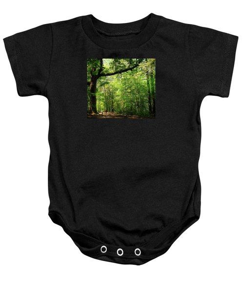 Paris Mountain State Park South Carolina Baby Onesie by Bellesouth Studio