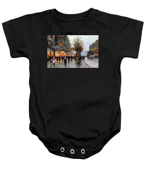 Paris Street Scene Baby Onesie