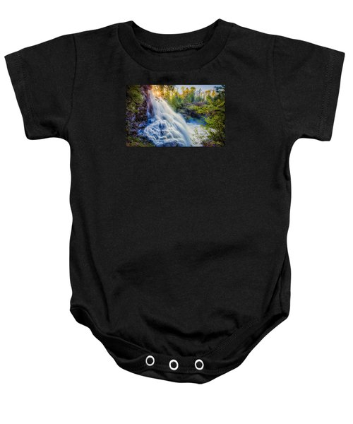 Baby Onesie featuring the photograph Partridge Falls In Late Afternoon by Rikk Flohr