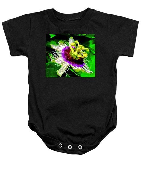 Passion Flower 3 Uplift Baby Onesie