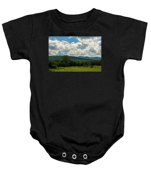 Pastoral Landscape With Mountains Baby Onesie