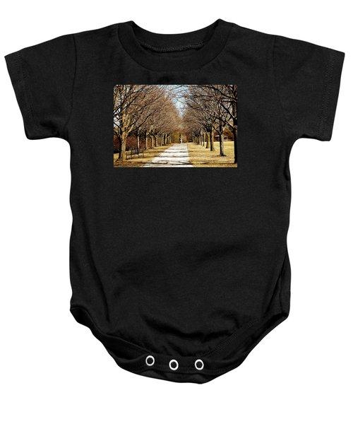 Pathway Through Trees Baby Onesie