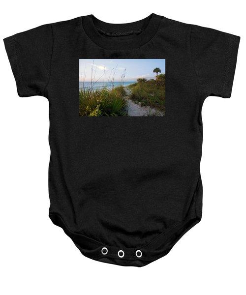Pathway To Barefoot Beach  In Naples Baby Onesie