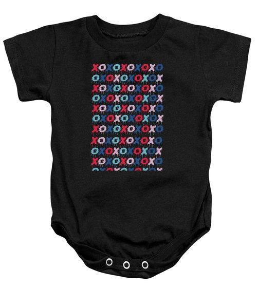 Pattern X O  Baby Onesie