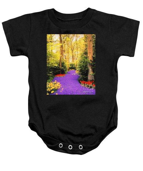 Peace, Like A River Baby Onesie