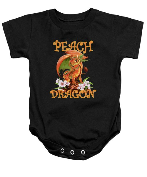 Peach Dragon Baby Onesie