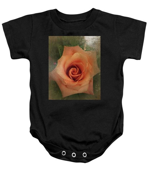 Peach Rose Baby Onesie