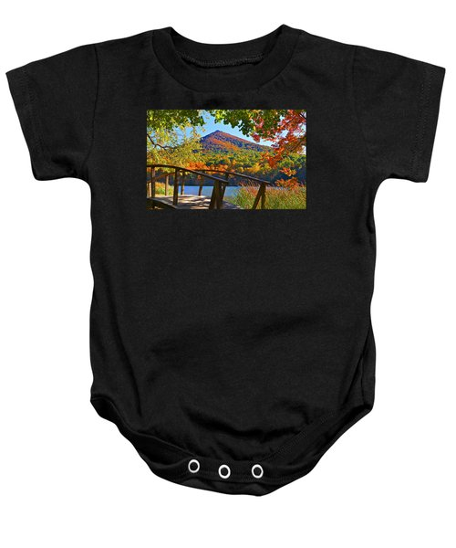 Peaks Of Otter Bridge Baby Onesie