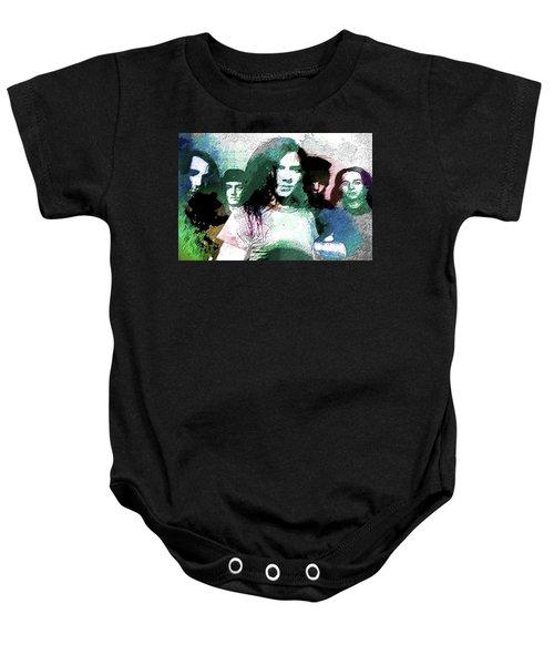 Pearl Jam Portrait  Baby Onesie by Enki Art