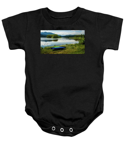 Pelicans At Shadow Mountain Lake Baby Onesie