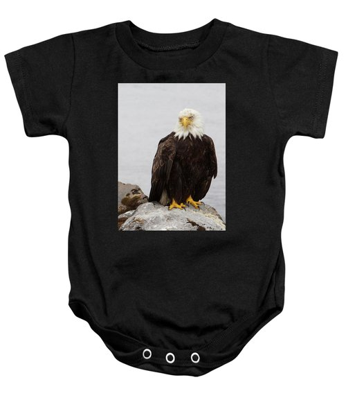Perched Bald Eagle Baby Onesie