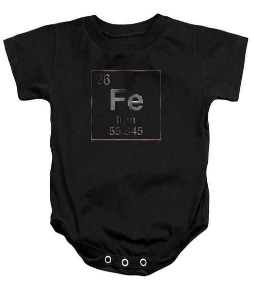 Periodic Table Of Elements - Iron Fe Baby Onesie