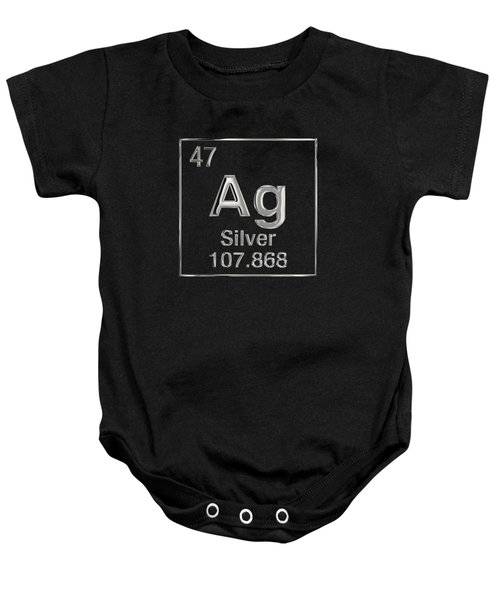 Periodic Table Of Elements - Silver - Ag Baby Onesie