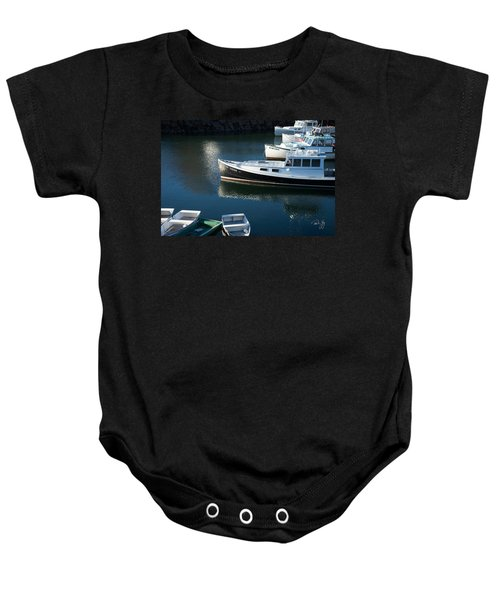 Perkins Cove Lobster Boats One Baby Onesie