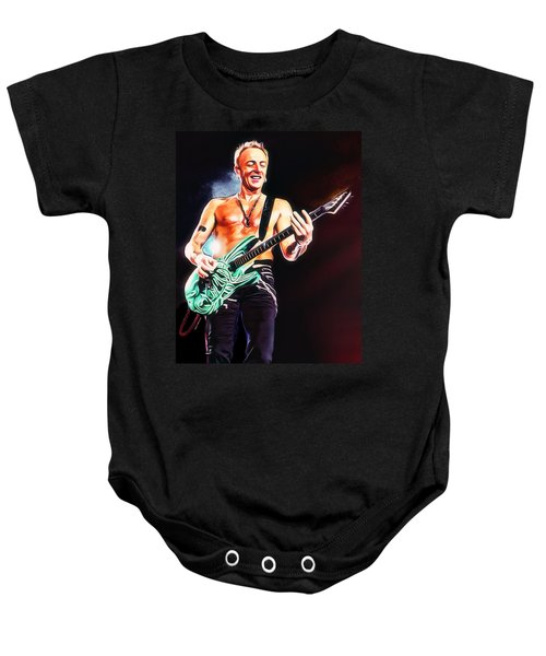 Phil Collen Portrait Baby Onesie by Scott Wallace