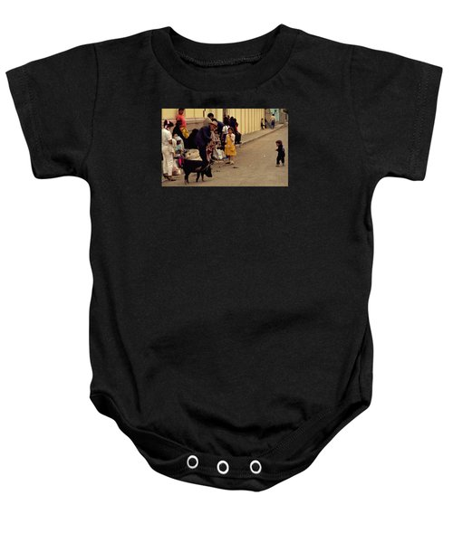 Piggy Went To Market Baby Onesie