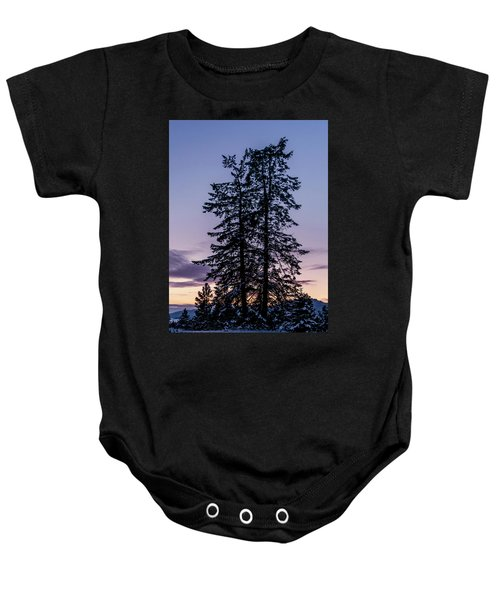 Pine Tree Silhouette    Baby Onesie