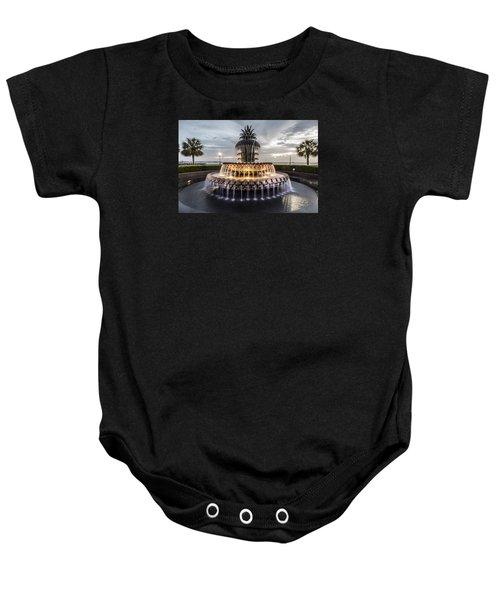 Pineapple Fountain Charleston Sc Baby Onesie