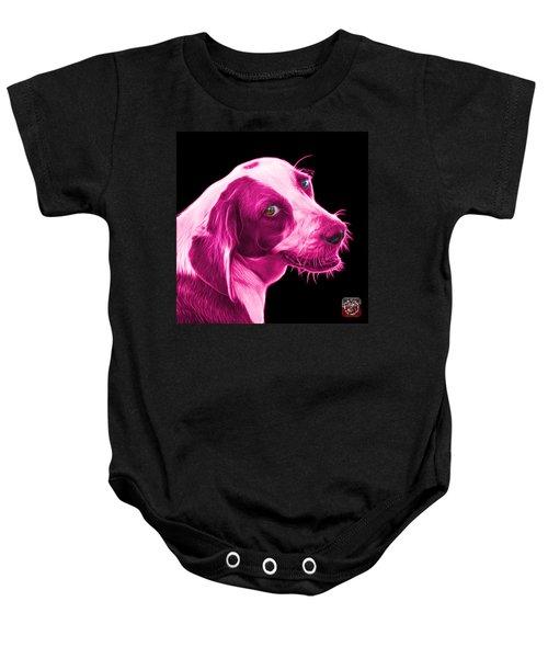 Pink Beagle Dog Art- 6896 - Bb Baby Onesie