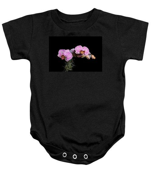 Pink Orchids Baby Onesie