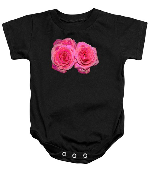 Pink Roses With Enameled Effects Baby Onesie