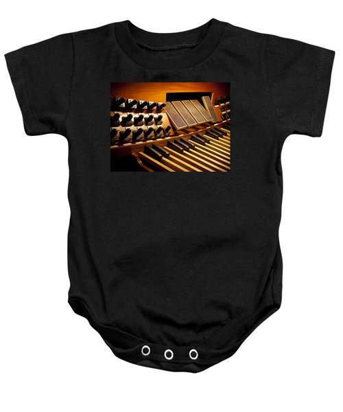 Pipe Organ Pedals Baby Onesie