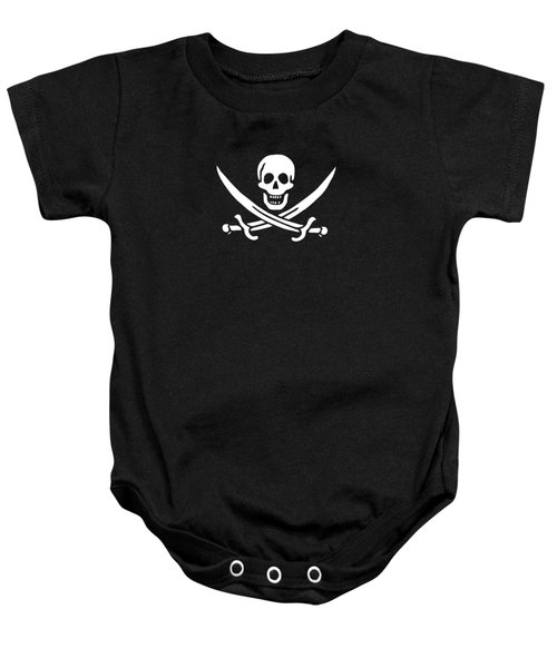Pirate Flag Jolly Roger Of Calico Jack Rackham Tee Baby Onesie by Edward Fielding