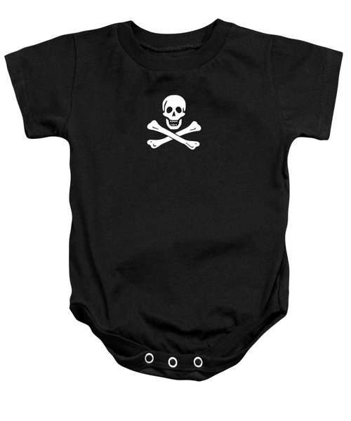 Baby Onesie featuring the digital art Pirate Flag Tee by Edward Fielding