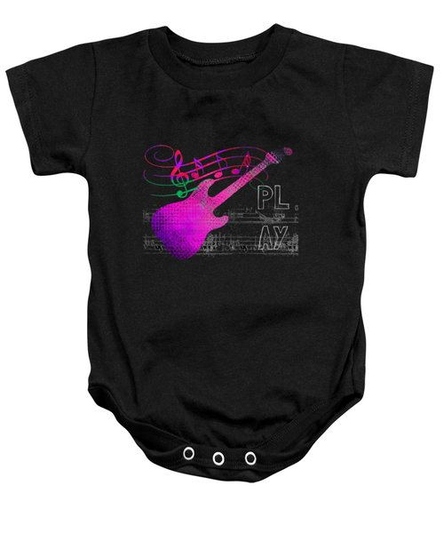 Baby Onesie featuring the digital art Play 5 by Guitar Wacky