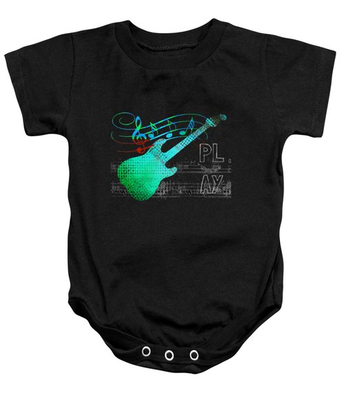 Baby Onesie featuring the digital art Play 4 by Guitar Wacky