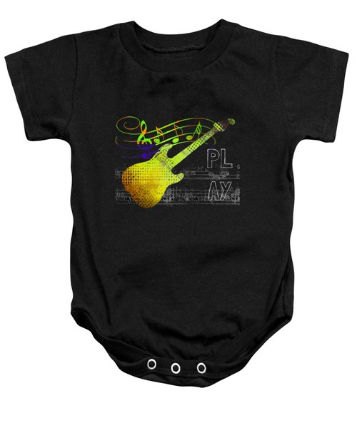 Baby Onesie featuring the digital art Play 2 by Guitar Wacky