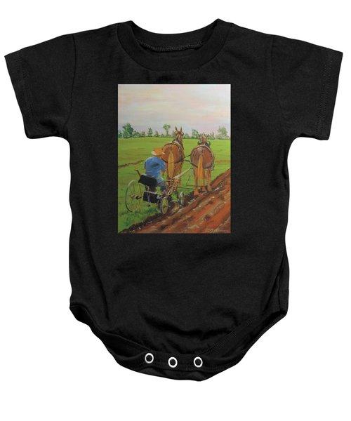 Plowing Match Baby Onesie