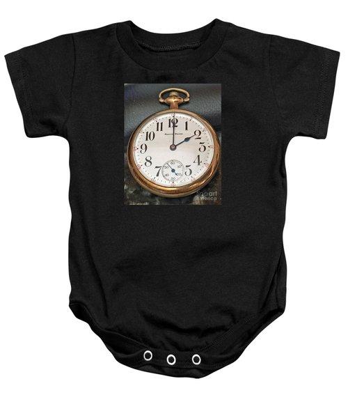 Pocket Watch Baby Onesie