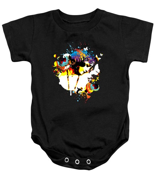 Poetic Peacock Baby Onesie by Chris Andruskiewicz
