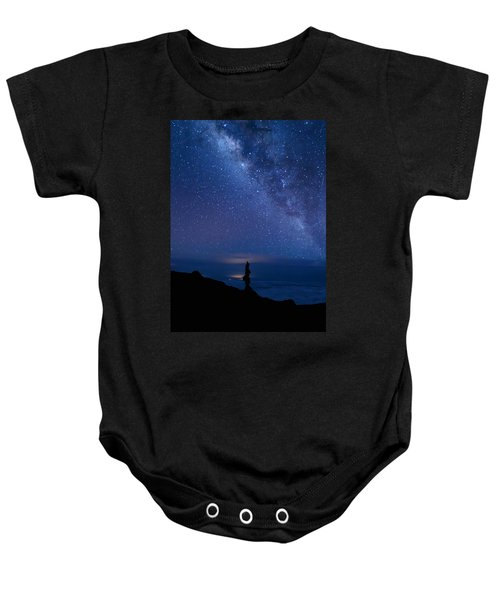 Pointing To The Heavens Baby Onesie