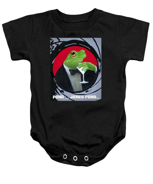 Pond...james Pond... Baby Onesie by Will Bullas