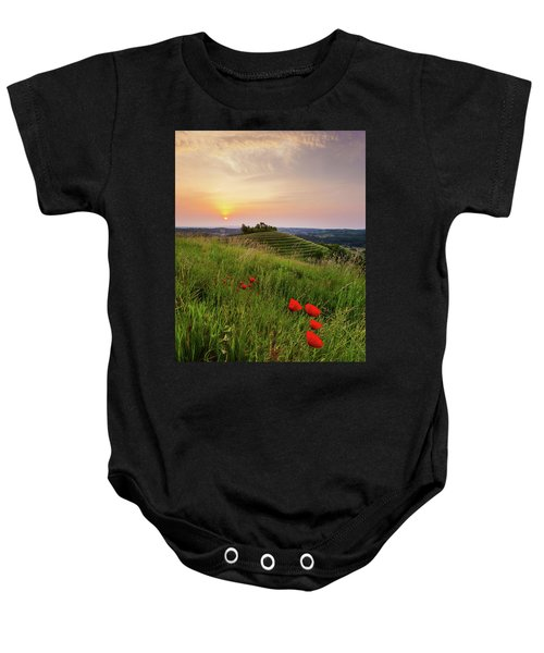 Poppies Burns Baby Onesie