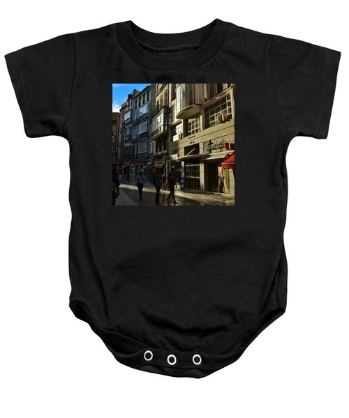 Por Las Calles Del Centro De #malaga Baby Onesie