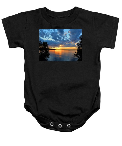 Porcupine Mountains Sunset Baby Onesie