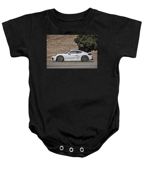 Porsche Cayman Gt4 Side Profile Baby Onesie