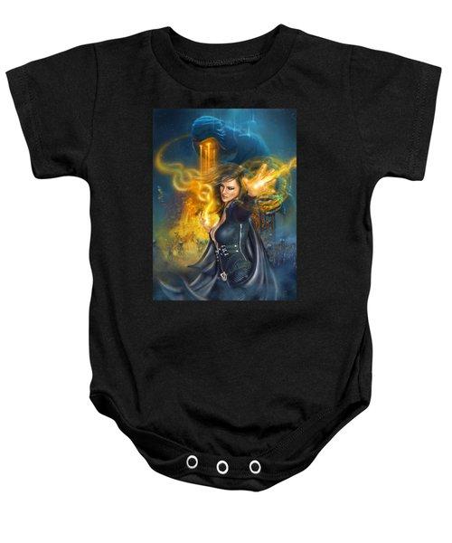 Portal Magician Baby Onesie