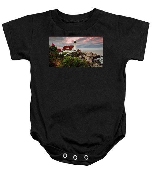 Portland Head Light Baby Onesie