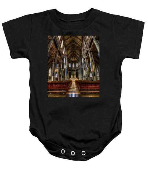 Our Lady Of Nahuel Huapi Cathedral In The Argentine Patagonia Baby Onesie