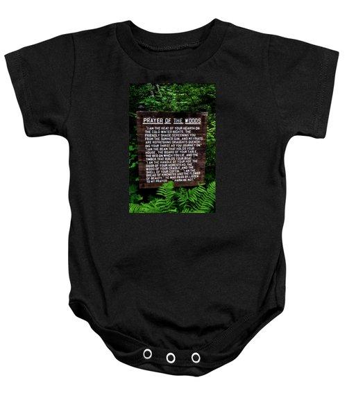 Prayer Of The Woods Baby Onesie by Michelle Calkins