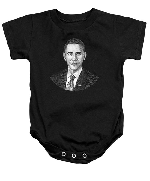 President Barack Obama Graphic Baby Onesie by War Is Hell Store