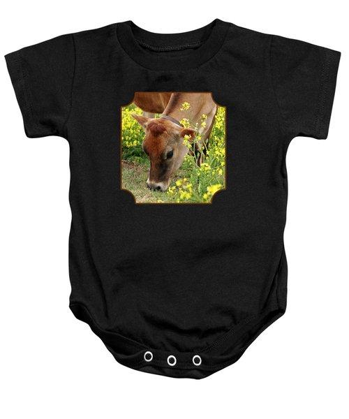 Pretty Jersey Cow - Vertical Baby Onesie