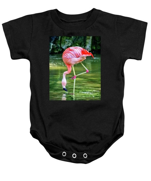 Pretty Pink Flamingo Baby Onesie