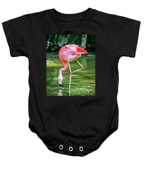 Pretty Pink Flamingo Baby Onesie